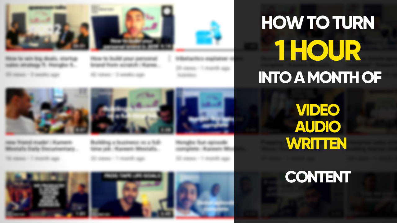 Applying the Garyvee Content Model: How we Turn 1 hour into a month of content